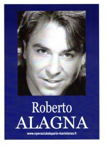 Affiche Roberto ALAGNA