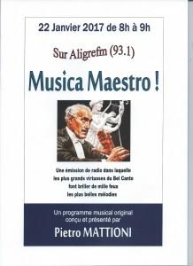 Musica Maestro 22 janvier 2017