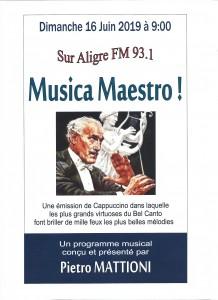 Musica Maestro 16 juin 2019