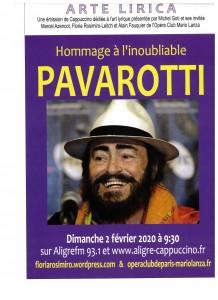 Affiche hommage Pavarotti