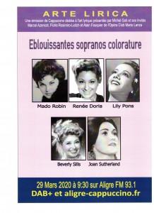 Affiche sopranos colorature