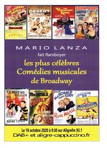 Affiche comédies musicales oct.2020