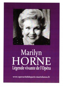 Affiche Marilyn HORNE