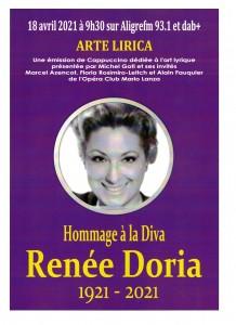 Hommage Renée Doria